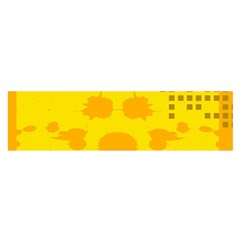 Texture Yellow Abstract Background Satin Scarf (oblong)
