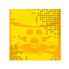 Texture Yellow Abstract Background Small Satin Scarf (square)