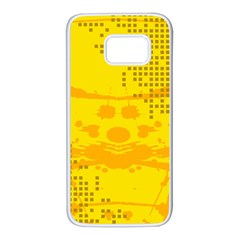 Texture Yellow Abstract Background Samsung Galaxy S7 White Seamless Case