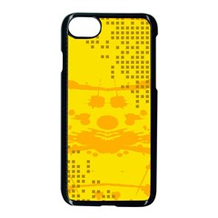 Texture Yellow Abstract Background Apple Iphone 7 Seamless Case (black)