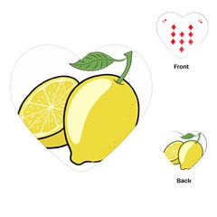 Lemon Fruit Green Yellow Citrus Playing Cards (heart)