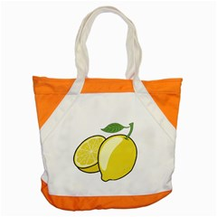 Lemon Fruit Green Yellow Citrus Accent Tote Bag