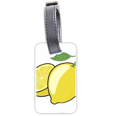 Lemon Fruit Green Yellow Citrus Luggage Tags (two Sides)