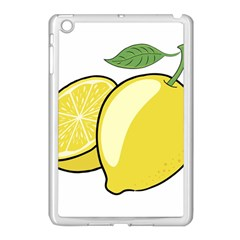 Lemon Fruit Green Yellow Citrus Apple Ipad Mini Case (white)