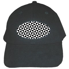 Triangle Pattern Simple Triangular Black Cap