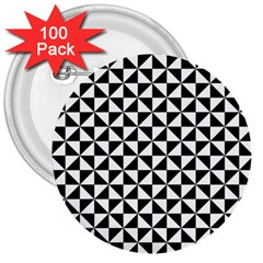 Triangle Pattern Simple Triangular 3  Buttons (100 Pack)