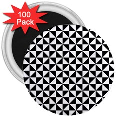 Triangle Pattern Simple Triangular 3  Magnets (100 Pack)