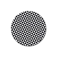 Triangle Pattern Simple Triangular Rubber Round Coaster (4 Pack)