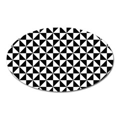 Triangle Pattern Simple Triangular Oval Magnet