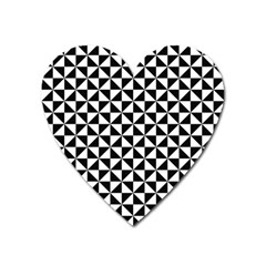 Triangle Pattern Simple Triangular Heart Magnet