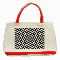Triangle Pattern Simple Triangular Classic Tote Bag (red)