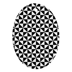Triangle Pattern Simple Triangular Oval Ornament (two Sides)