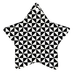 Triangle Pattern Simple Triangular Star Ornament (two Sides)