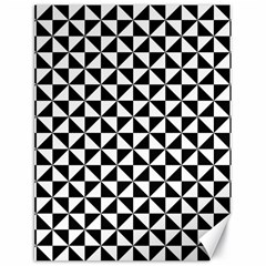 Triangle Pattern Simple Triangular Canvas 18  X 24