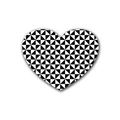 Triangle Pattern Simple Triangular Heart Coaster (4 Pack)