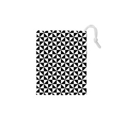 Triangle Pattern Simple Triangular Drawstring Pouches (xs)