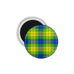 Spring Plaid Yellow Blue And Green 1 75  Magnets