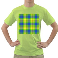 Spring Plaid Yellow Blue And Green Green T Shirt