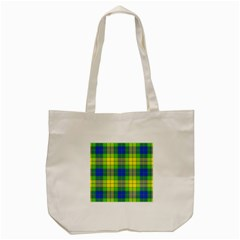 Spring Plaid Yellow Blue And Green Tote Bag (cream)
