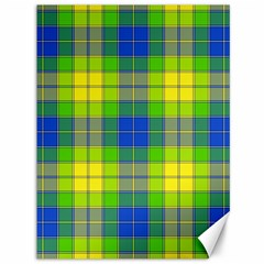 Spring Plaid Yellow Blue And Green Canvas 36  X 48