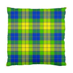 Spring Plaid Yellow Blue And Green Standard Cushion Case (two Sides)