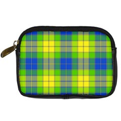 Spring Plaid Yellow Blue And Green Digital Camera Cases