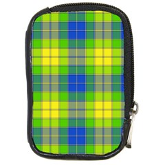 Spring Plaid Yellow Blue And Green Compact Camera Cases