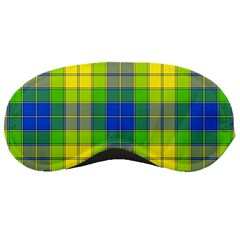 Spring Plaid Yellow Blue And Green Sleeping Masks