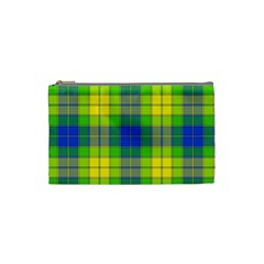Spring Plaid Yellow Blue And Green Cosmetic Bag (small)