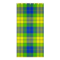 Spring Plaid Yellow Blue And Green Shower Curtain 36  X 72  (stall)