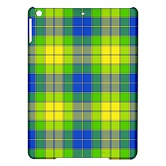 Spring Plaid Yellow Blue And Green Ipad Air Hardshell Cases