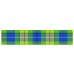 Spring Plaid Yellow Blue And Green Small Flano Scarf