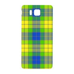 Spring Plaid Yellow Blue And Green Samsung Galaxy Alpha Hardshell Back Case