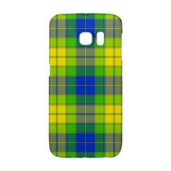 Spring Plaid Yellow Blue And Green Galaxy S6 Edge