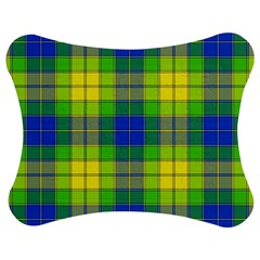 Spring Plaid Yellow Blue And Green Jigsaw Puzzle Photo Stand (bow)