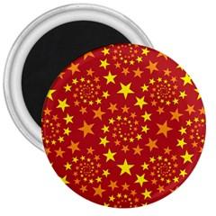 Star Stars Pattern Design 3  Magnets