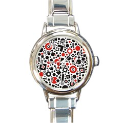 Square Objects Future Modern Round Italian Charm Watch