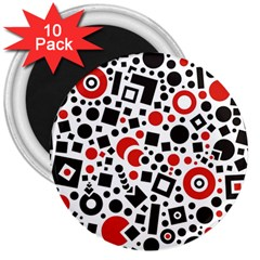 Square Objects Future Modern 3  Magnets (10 Pack)