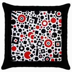 Square Objects Future Modern Throw Pillow Case (black)