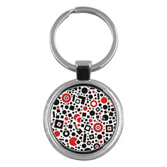 Square Objects Future Modern Key Chains (round)