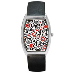 Square Objects Future Modern Barrel Style Metal Watch