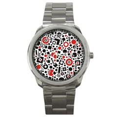 Square Objects Future Modern Sport Metal Watch