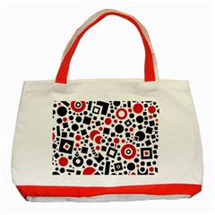 Square Objects Future Modern Classic Tote Bag (red)