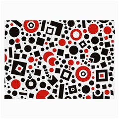 Square Objects Future Modern Large Glasses Cloth (2 Side)