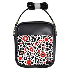 Square Objects Future Modern Girls Sling Bags