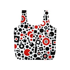 Square Objects Future Modern Full Print Recycle Bags (s)
