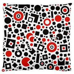 Square Objects Future Modern Large Flano Cushion Case (one Side)