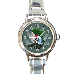 Digital Nature Beauty Round Italian Charm Watch