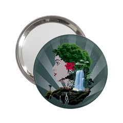 Digital Nature Beauty 2 25  Handbag Mirrors