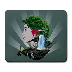 Digital Nature Beauty Large Mousepads